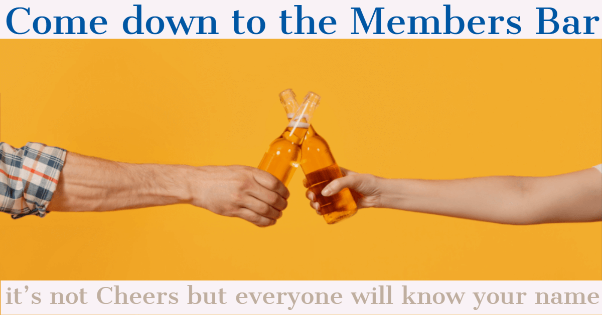 Members bar Cheers